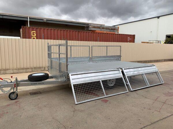 galvanised flat top trailer