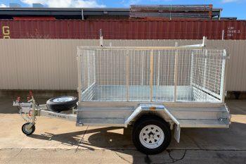 Galvanised single axle trailer