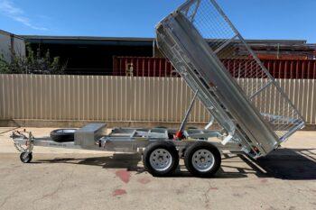 galvanised flat top tipper trailer